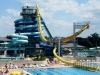 huge water slide system